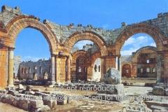 St-Simeons-1-pillar-in-the-basilica-1976-postcard