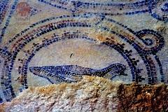 Mosaic at Qasr al-Hallabat