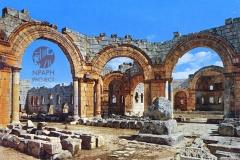 cSearightpSimeon2-St-Simeons-pillar-in-the-basilica-1976-postcard