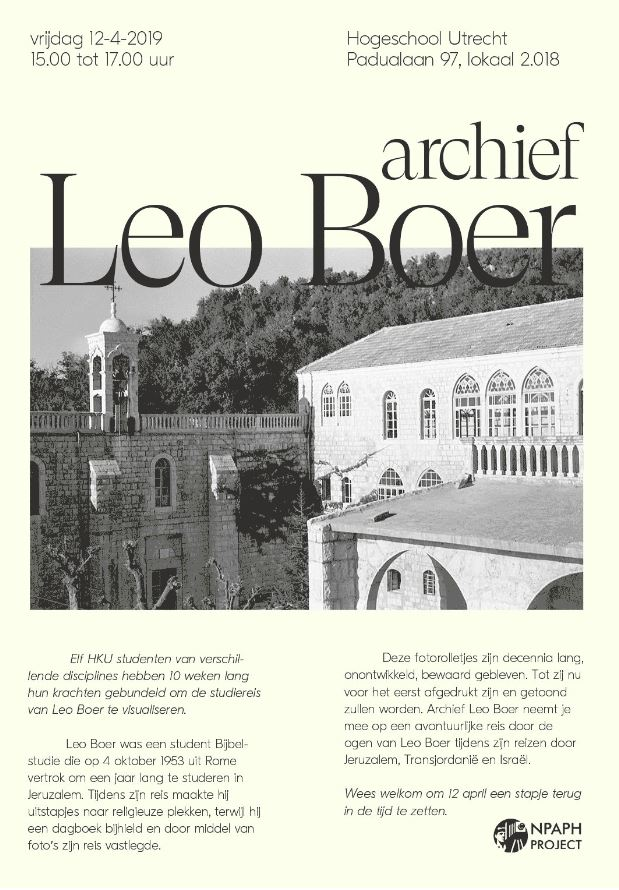 Invitation exhibition Leo Boer